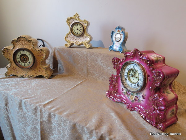 Colorful clocks are among dozens more on display at the art center until the end of March.