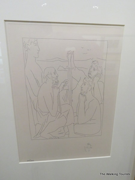 An original print by Pablo Picasso is on display at the Charles City library.