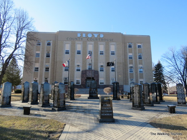 The Floyd County veterans memorial is located at the courthouse.