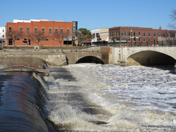 Whitewater rapids run over a three-block section of downtown Charles City.