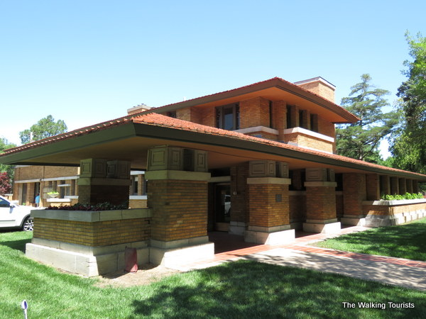 A look at the prairie-style home designed by Frank Lloyd Wright.