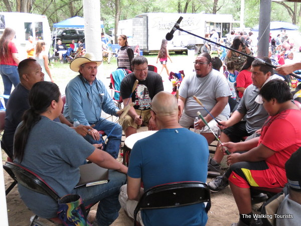 Drum groups play a major role during powwows.