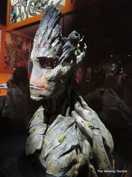 "A bust of Groot from ""Guardians of the Galaxy."""