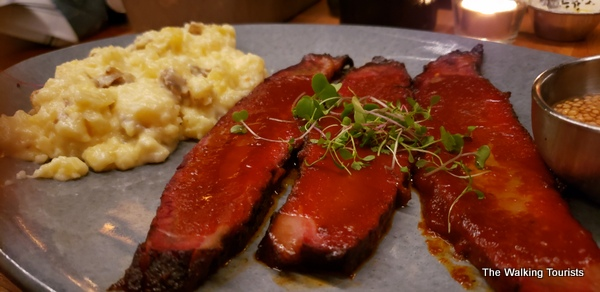 The brisket dinner at Hardware is delicious.