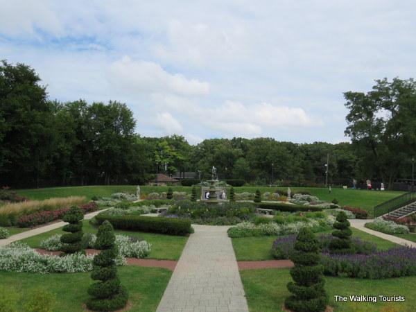 The sunken garden at Phillips Park.