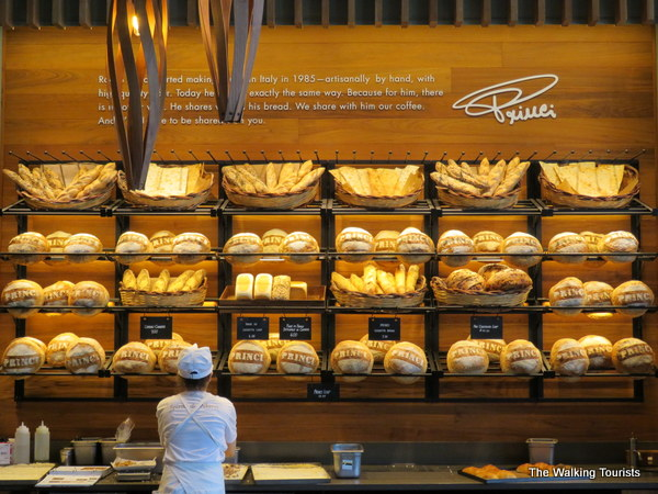 Freshly baked breads and flatbreads are available at the roastery.
