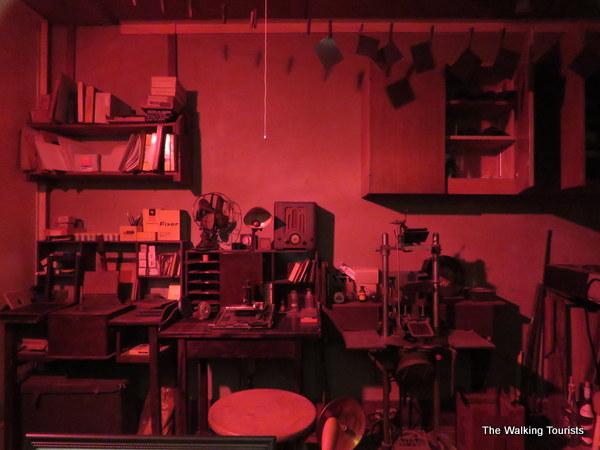 The dark room inside the Jeffcoat Photo Museum.
