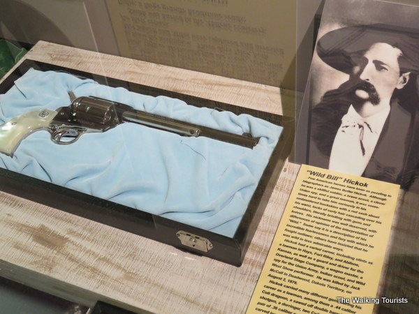 Replica of pistol that Wild Bill Hickock used.