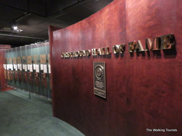 The Greyhound Hall of Fame exhibit.