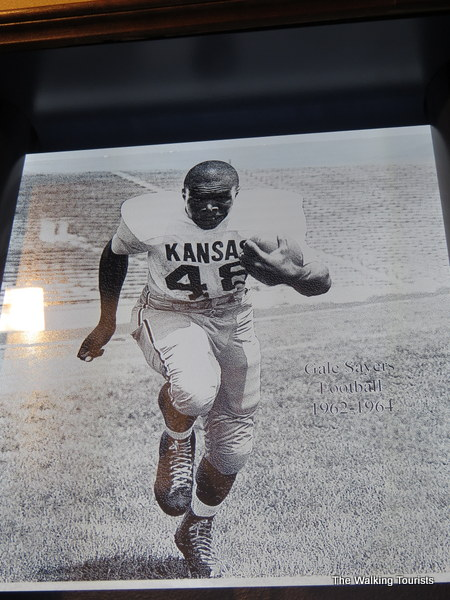 "Omahan Gales Sayers, aka the ""Kansas Comet,"" was a star for the Jayhawks and later in the National Football League."