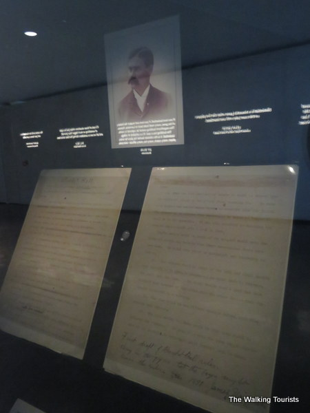A copy of the original handwritten rules of basketball.