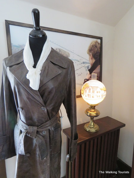 "A flight jacket worn during the movie ""Amelia."""