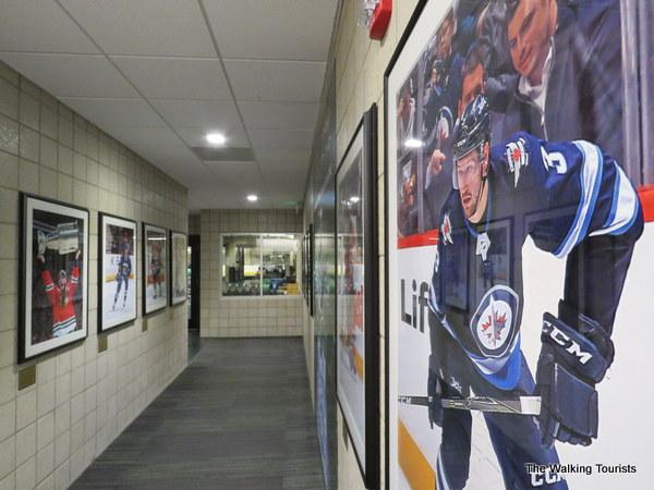 Posters of North Dakota hockey players in pro hockey
