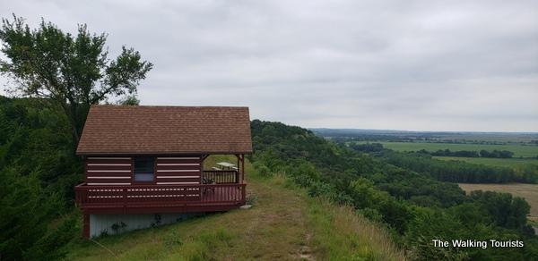 Cabin on top of ridge
