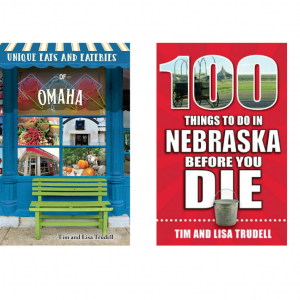 100 Things Nebraska and Unique Eats Omaha book covers