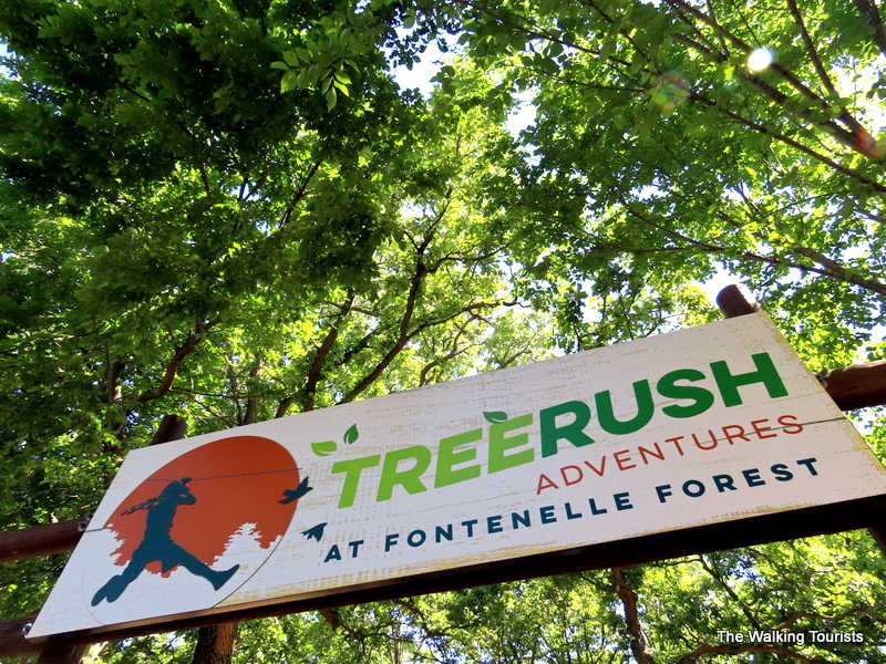 Tree Rush Sign in the trees